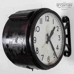 industriele stationsklok vintage klok