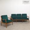 vintage design set bank fauteuil
