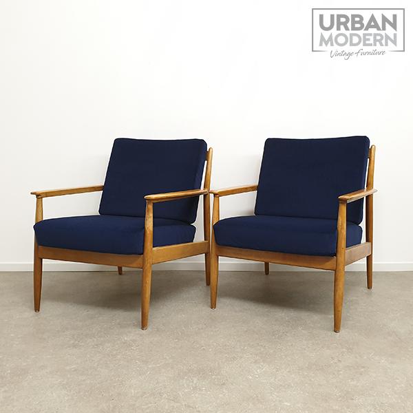 vintage fauteuils velours limburg